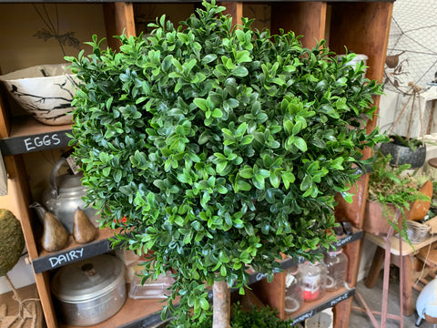 Double Boxwood Faux Tree