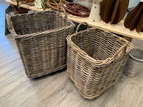 Rattan TROLLEY on Wheels