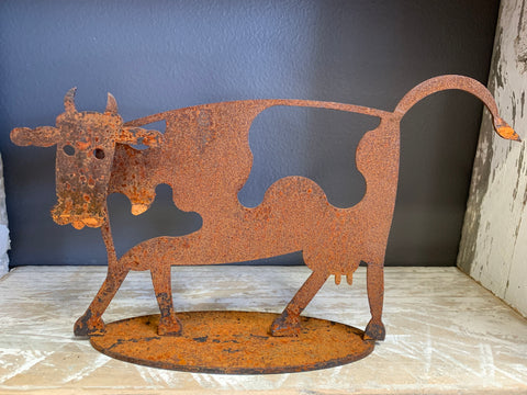 Wrought Iron Cow Stand