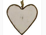 Hanging Timber Heart