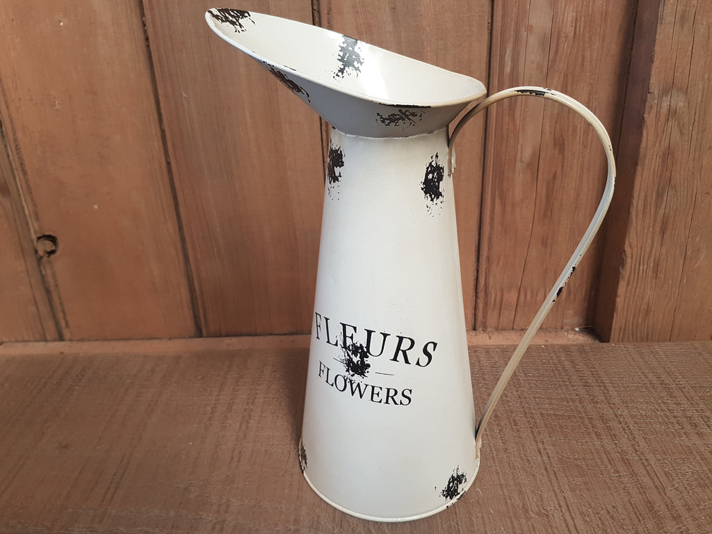 Tall Fleurs Flowers Pitcher