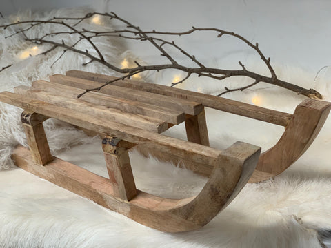 New LARGE Timber SLEIGH - FREE Postage