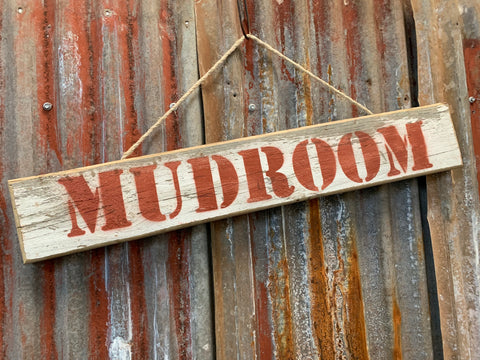 Mudroom Sign with Rope