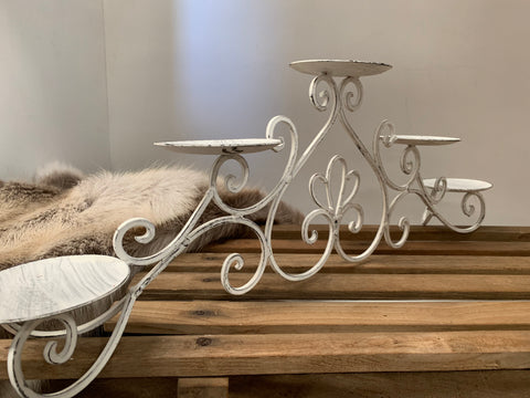 Country White Candelabra