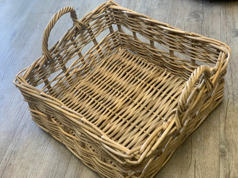 Rattan Basket Tray with Handles
