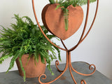 Rusty Metal Stand Planter