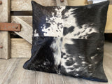 Mixed suede back Cowhide Cushion