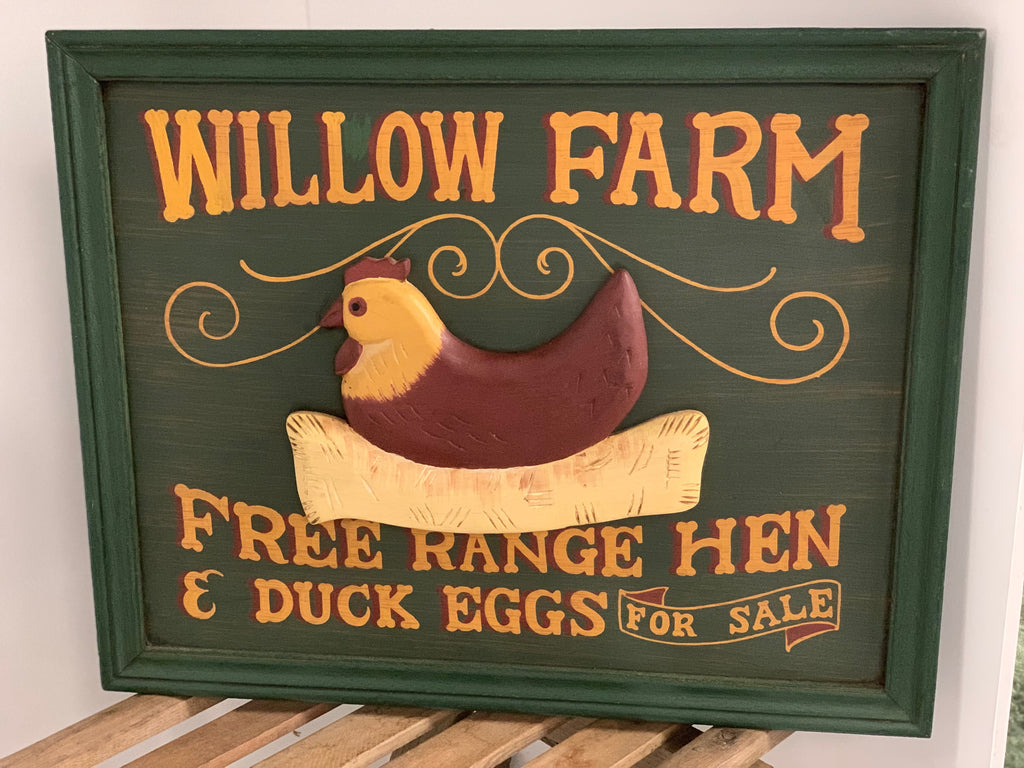 Vintage Willow Farm Sign