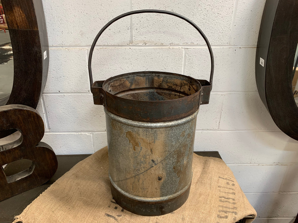 MASSIVE Heavy Metal Wood Bucket