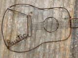Rustic Guitar with GUMNUT Tuning Pegs