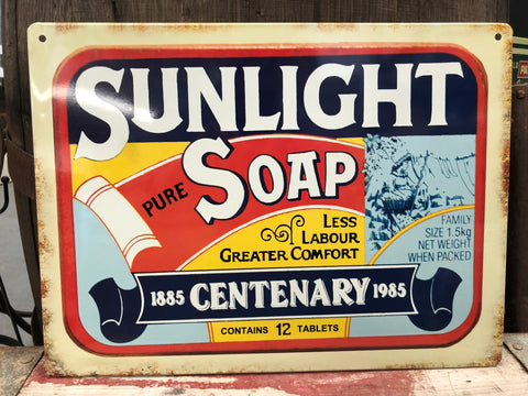 Sunlight Soap Tin Sign