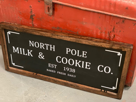 Wooden North Pole Christmas Sign