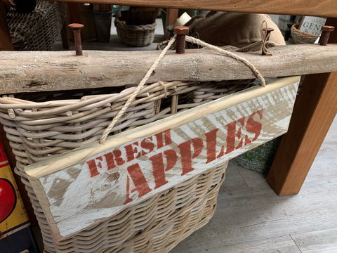 Fresh Apples Handmade Sign