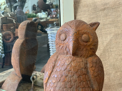 Earless Large Owl Cast Iron Doorstop