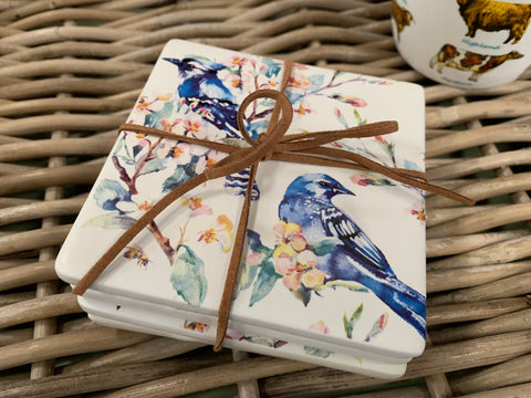 Set of 4 KINGFISHER Coasters