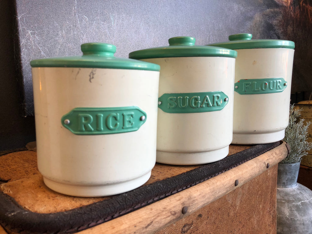 Vintage Green Canister Set