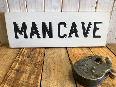 Man Cave Handmade Sign