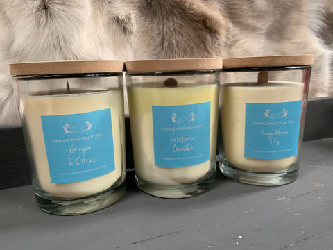 Soy CRACKLE Wick Scented Candles