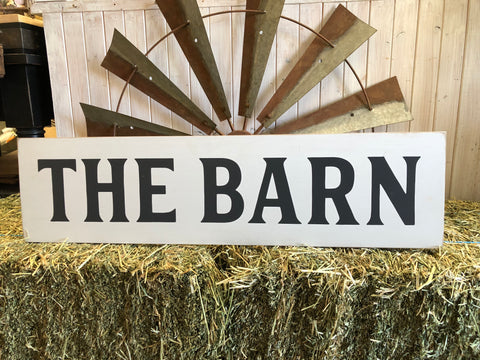 The Barn Handmade Sign