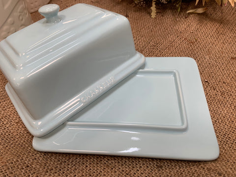 Duck Egg BLUE Butter Dish
