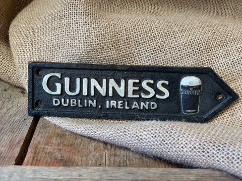 Cast Iron 'Guinness' Sign