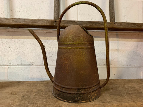 Vintage Rust Water Can with SPOUT