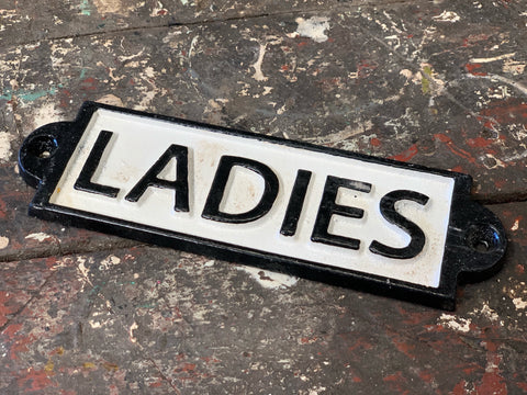 Cast Iron Sign 'Ladies'