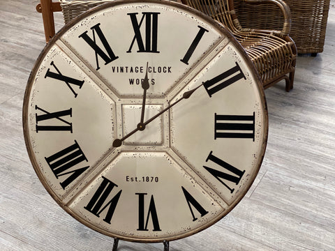 DISTRESSED vintage wall Clock NOW IN STORE