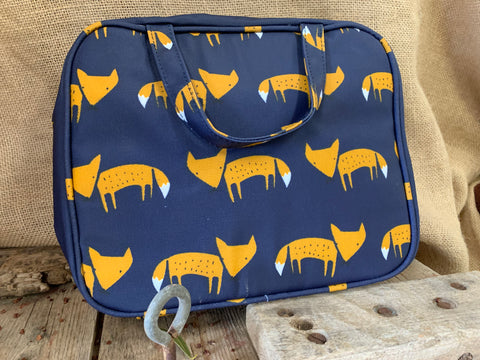 Navy FOX Toiletry Bag
