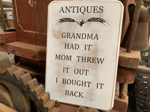 Antiques Handmade Sign