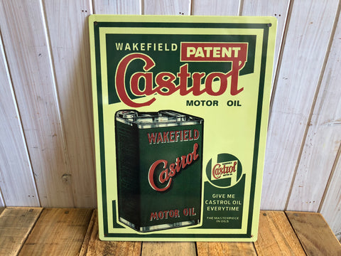 Castrol Motor Oil Tin Sign