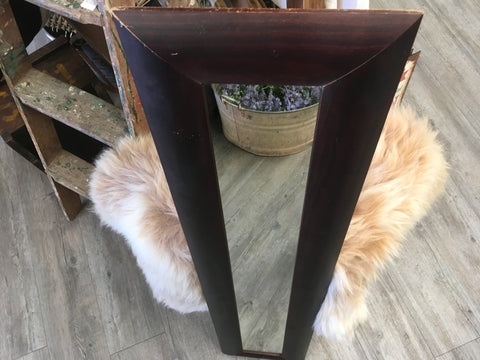 Long Brown Mirror