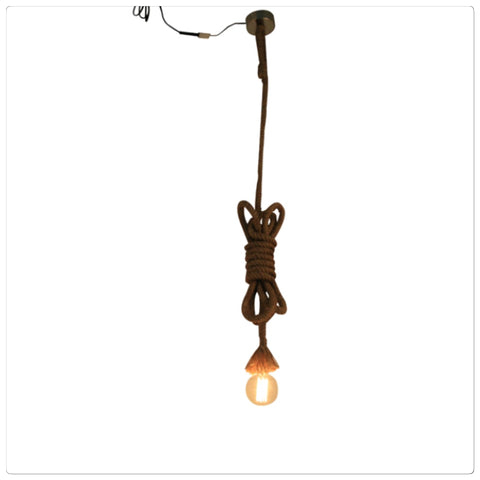 Industrial Rope Ceiling Lamp