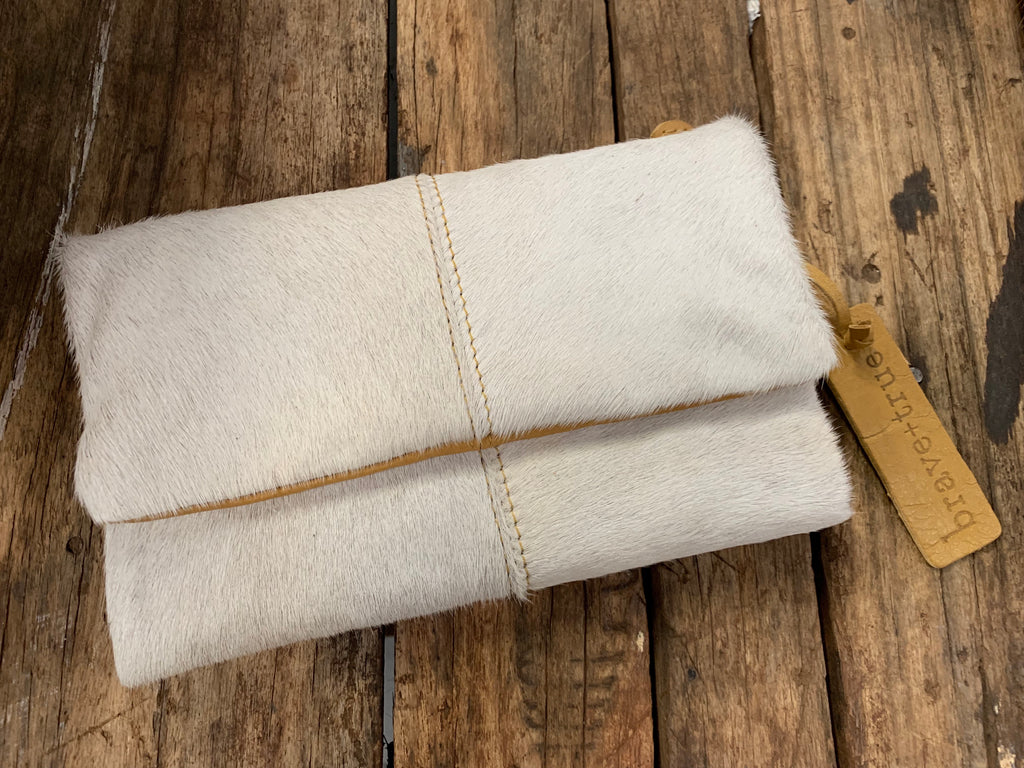 White Hide Magnetic Summit Clutch
