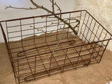 Vintage Wire Basket with Feet