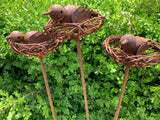 Garden Bird on Nest Stakes