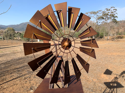 1.6 Metre Rusty Windmill ORDER Now DUE Dec 1st