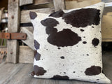 Mixed suede back FULL Panel Cowhide Cushion