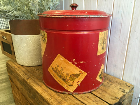 XL Vintage Red TIN
