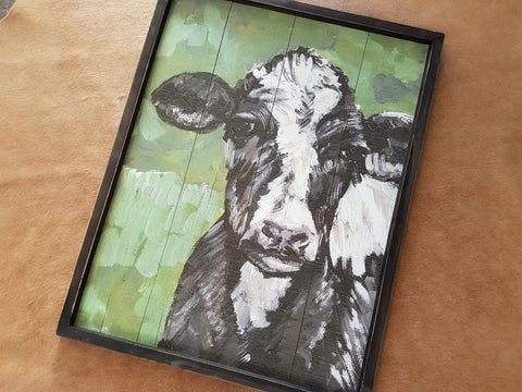 Friesian Cow Wall Art
