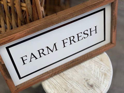 Handmade Farm Fresh Sign