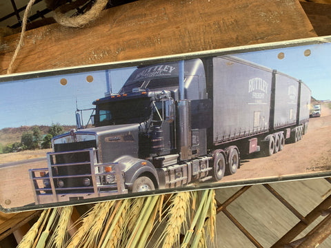 RUTTLEY Truck Metal Sign B Triple