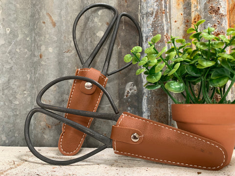 Garden Scissors with LEATHER Pouch