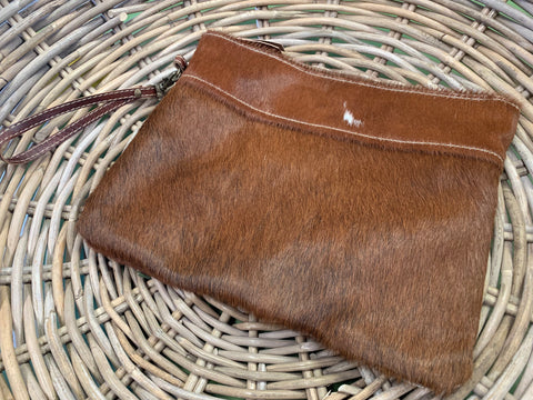 NEW Jasmine Cowhide Clutch