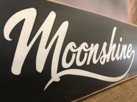 Moonshine Handmade Sign