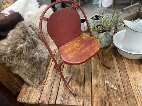Vintage children's metal chair
