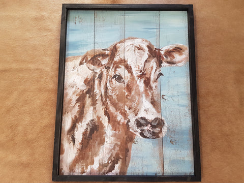 Hereford Cow Wall Art