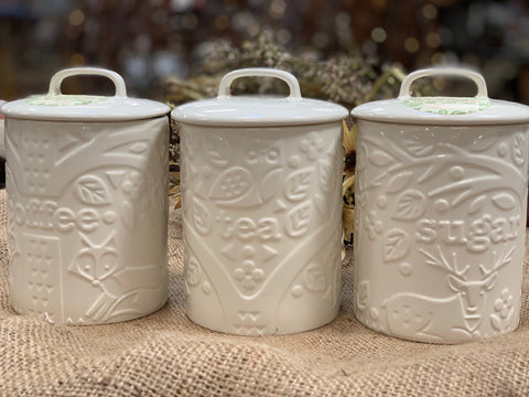 Mason Cash Coffee, Tea and Sugar Canister Set