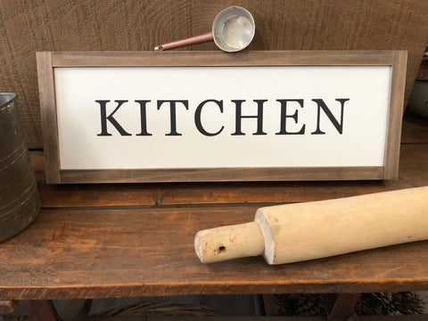 Handmade Kitchen Sign