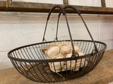 Brown OVAL Wire Basket